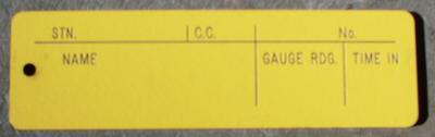 Tallies Yellow Tags - Personal