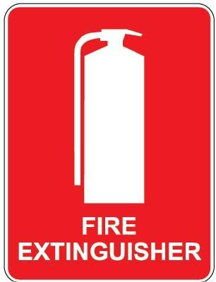Fire Extinguisher Location Sign Metal