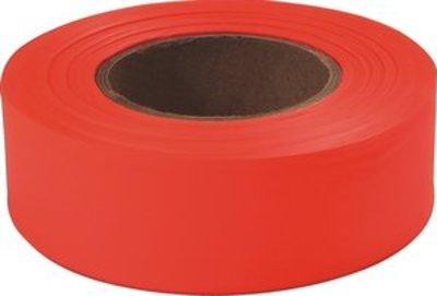 Plastic Flagging Tape 45m Roll - Orange Fluoro