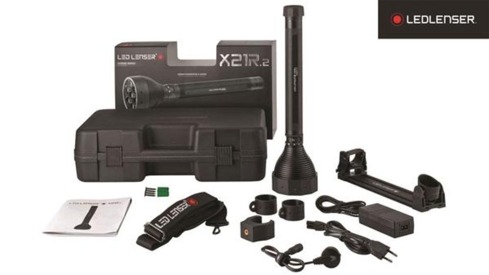 LED Lenser X21R Rechargeable Torch - Hard Case