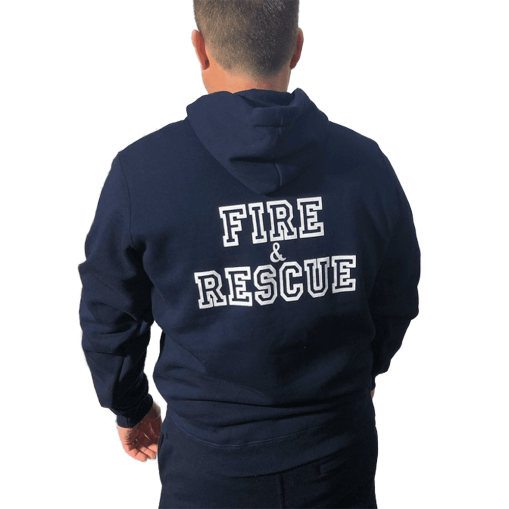 CFS Navy Hoodie with FIREFIGHTER Printed on Arm