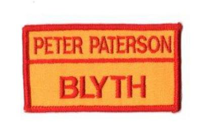 CFS Brigade & Name Badge with Velcro - 11cm x 5cm