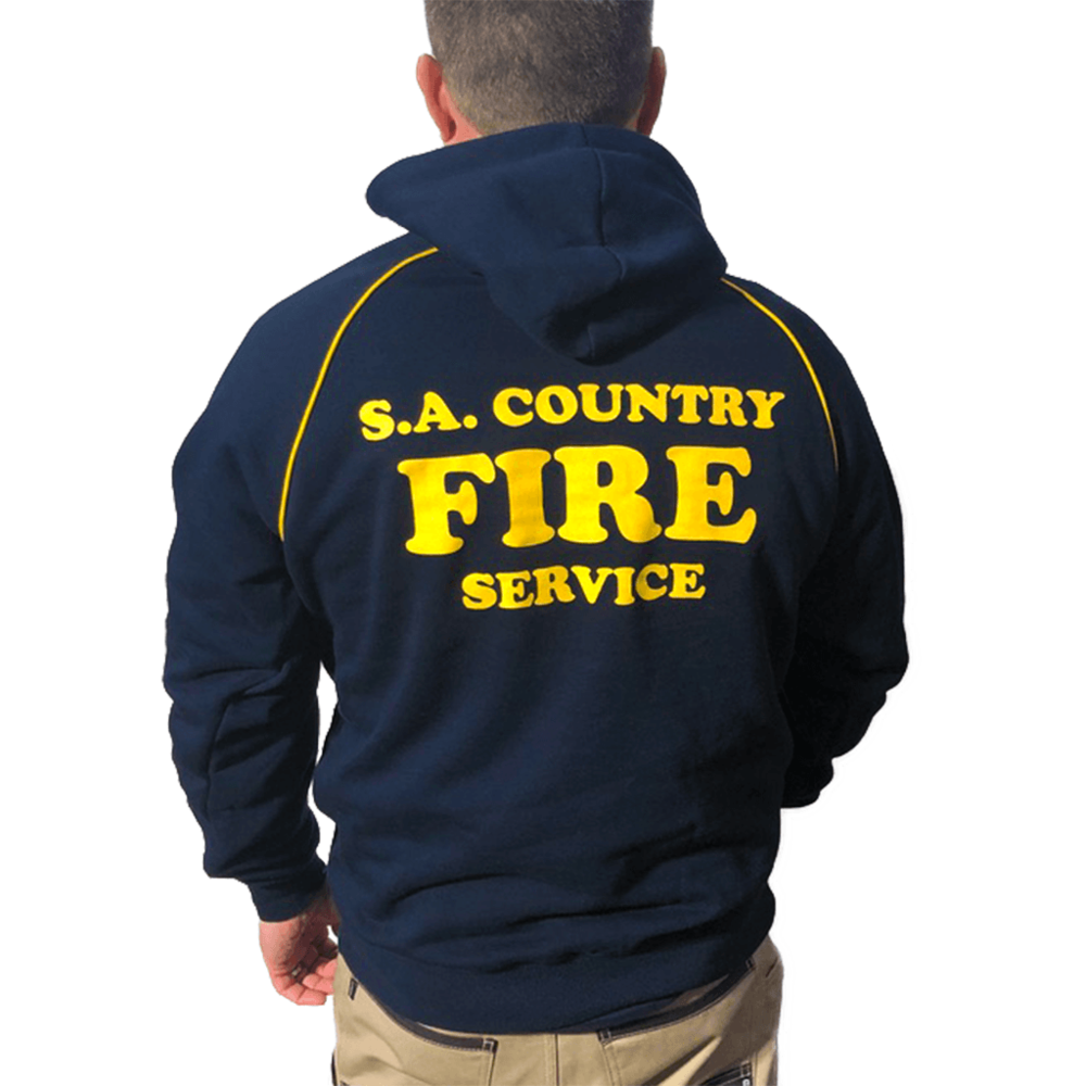 CFS Navy & Gold Hoodie with FIREFIGHTER Printed on arm