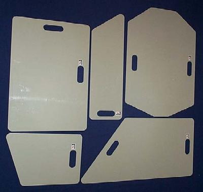 Hard Protection Boards - Set of 5