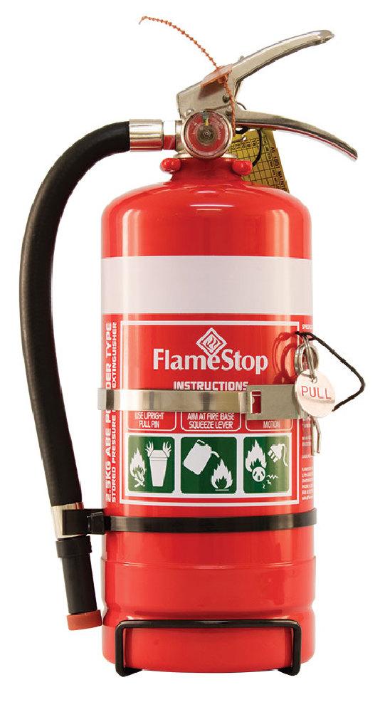 Flamestop 2.5kg ABE Dry Powder Extinguisher with Bracket
