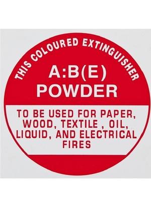 ID Sign - ABE Dry Powder Extinguisher - Plastic