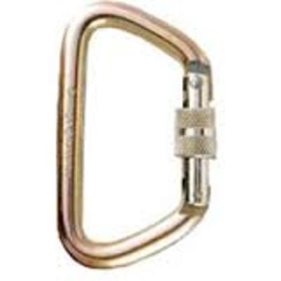 OP 12mm Steel Style 5 Gold Side-Swing Screw-Lock NFPA Carabiner