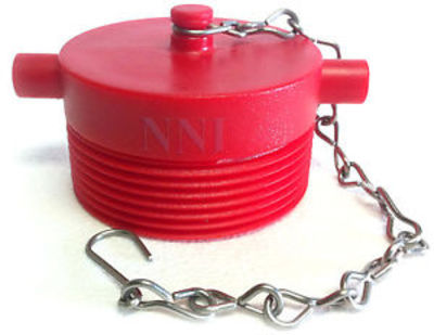 Red Plastic Plug 64mm SAFB with chain