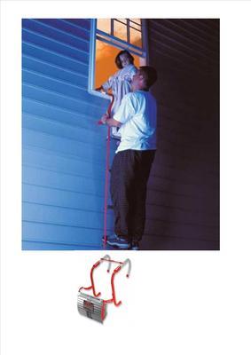 Kidde Emergency Escape Ladder 7 6m 3 Storey 25ft Or