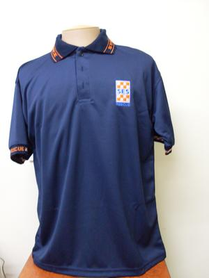 SA SES Rescue Navy Cool Dry Poloshirt