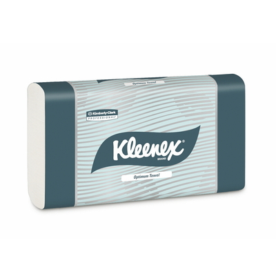 Kleenex Optimum Towel - White 30.5cm x 24cm - 120 Towels / Pack