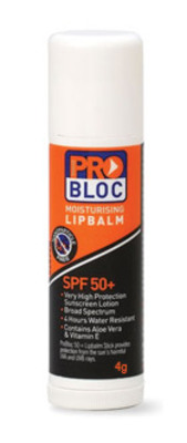 Pro Bloc SPF 50+ Sunscreen Lip Balm 4gm Tube