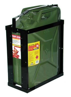Proquip Green Metal Jerry Can and Holder/ Carrier Pack - 20 Litr