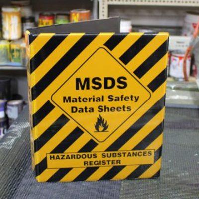 Material Safety Data Sheets Folder