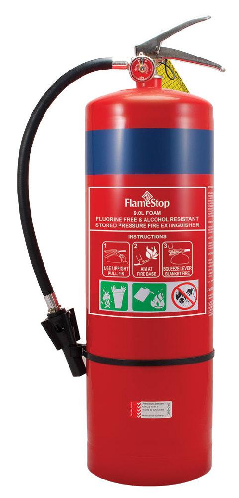 FlameStop 9.0L ECO Foam F3 Fluorine Free Foam Type Portable Fire Extinguisher