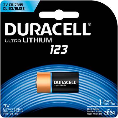 Duracell Ultra Photo Battery 123