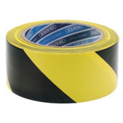 Black-Yellow Striped Adhesive Hazard Tape 50mm x 30m
