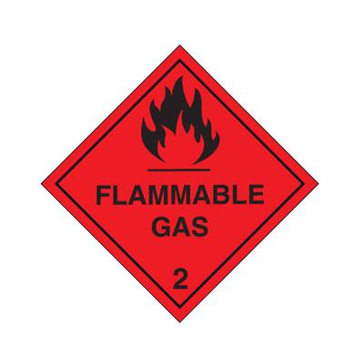 Flammable Gas 2 Diamond Shape 100mm x 100mm sticker