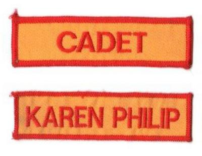 Name Badge w/Hook Velcro (12cm L x 2.5cm H)