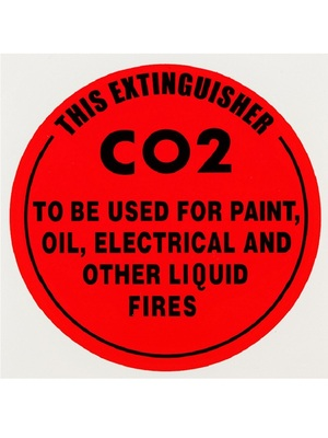 ID Sign - CO2 Extinguisher - Plastic