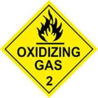 Oxidizing Gas Diamond 100mm x 100mm Sticker