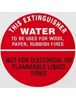 ID Sign - Water Extinguisher - Plastic