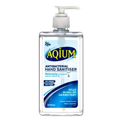 Aqium Antibacterial Hand Sanitiser 375 ml