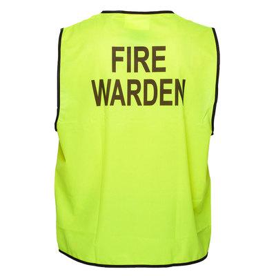 Fire Warden Hi-Vis Vest Class D - Yellow