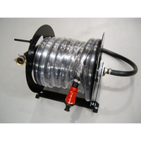 25mm x 30m Hose Reel Assembly with Couplings and Nozzle - Black