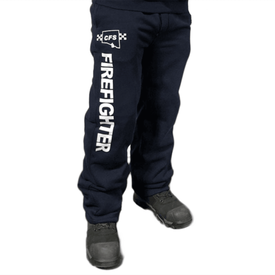 CFS Navy Track Pant with FIREFIGHTER down Right Leg