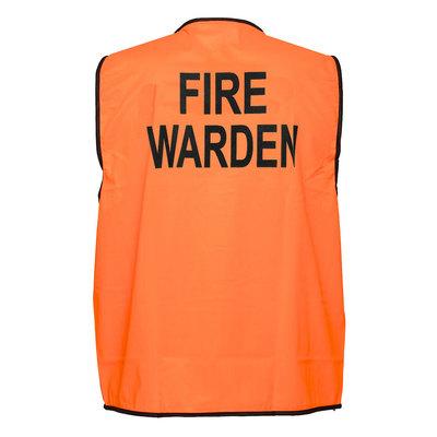 Fire Warden Hi-Vis Vest Class D - Orange