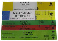 Duration Slide Calculator 45mm 6.8L/ 2040L 300Bar