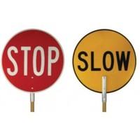 Stop/Slow Bats - Wooden Handle