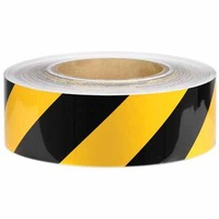 Plastic Flagging Tape 45m Roll - Black/Yellow