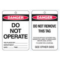 Danger Do Not Operate - Pack of 100 (cardstock)