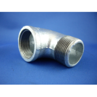Galvanised Male/Female Elbow