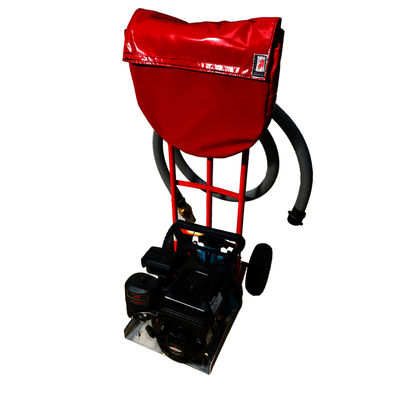 Mobile Firefighter Trolley - Lay Flat Hose Version