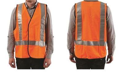 Pro Choice Fluoro Orange H Back Safety Vest