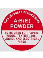 ID Sign - ABE Dry Powder Extinguisher - Plastic