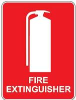 ID Sign - Fire Extinguisher Location Sign - Plastic