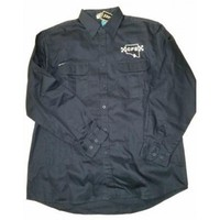 CFS Navy Long Sleeve Cotton Drill Shirt