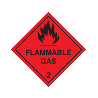 Flammable Gas Class 2  - 270mm x 270mm Metal