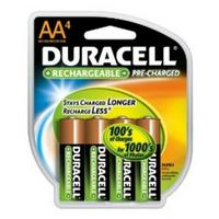 Duracell AA 4pk Rechargable