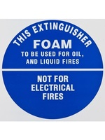ID Sign - Foam Extinguisher - Plastic