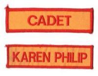 Name Badge w/Hook Velcro (12cm L x 2.5cm H)